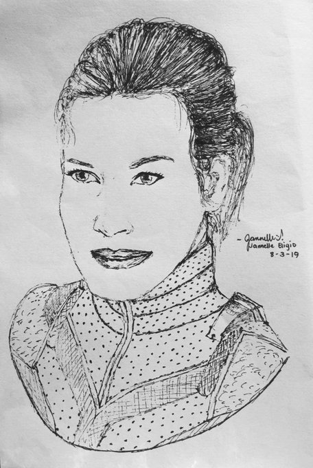 Here\s my sketch of my favorite heroine Happy Birthday Evangeline Lilly i hope you have a blast today