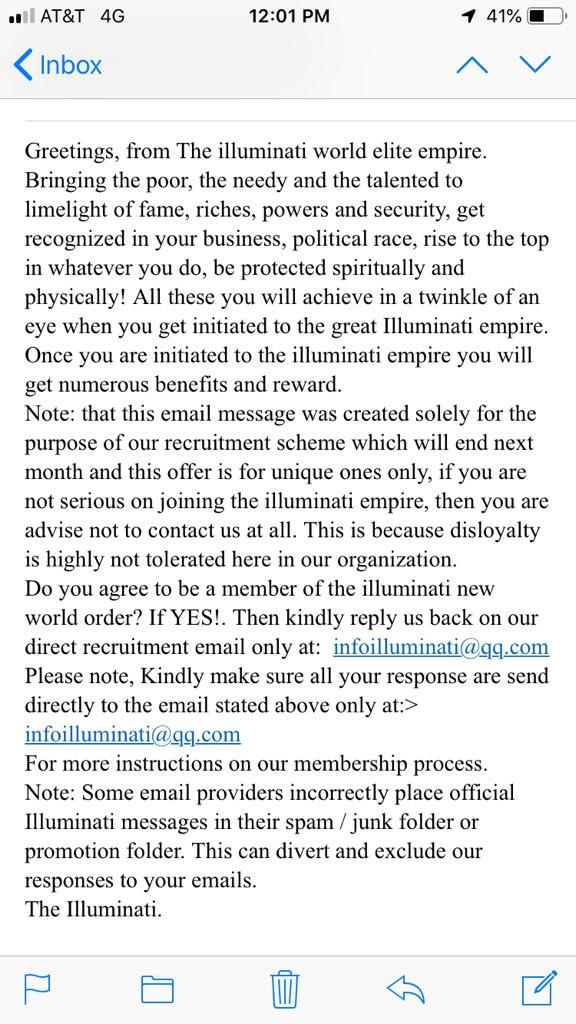 illuminati hashtag on Twitter