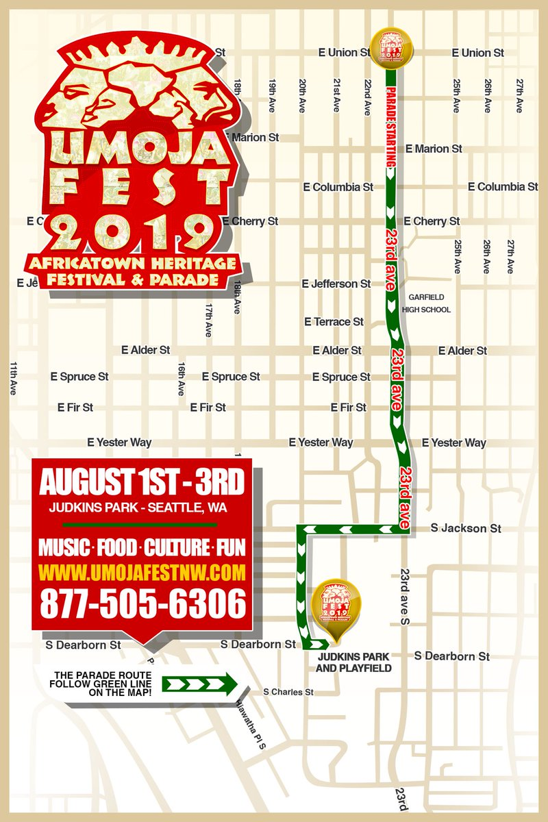 #UmojaFest Parade is today and starts at 1pm!