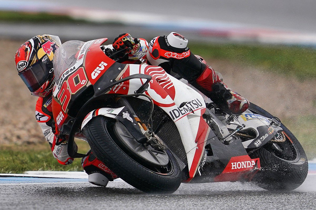 13番グリッドから、良いレースが出来るよう頑張ってきます👊🏼 Tricky conditions today 🌦 P13 on the grid for tomorrow race! I'll give it my best 👊🏼 #CzechGP #MotoGP #LCRHondaIDEMITSU