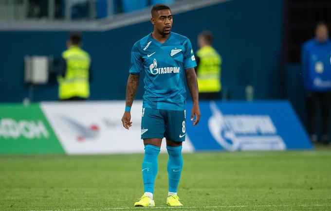 Malcom, en su debut con el Zenit.