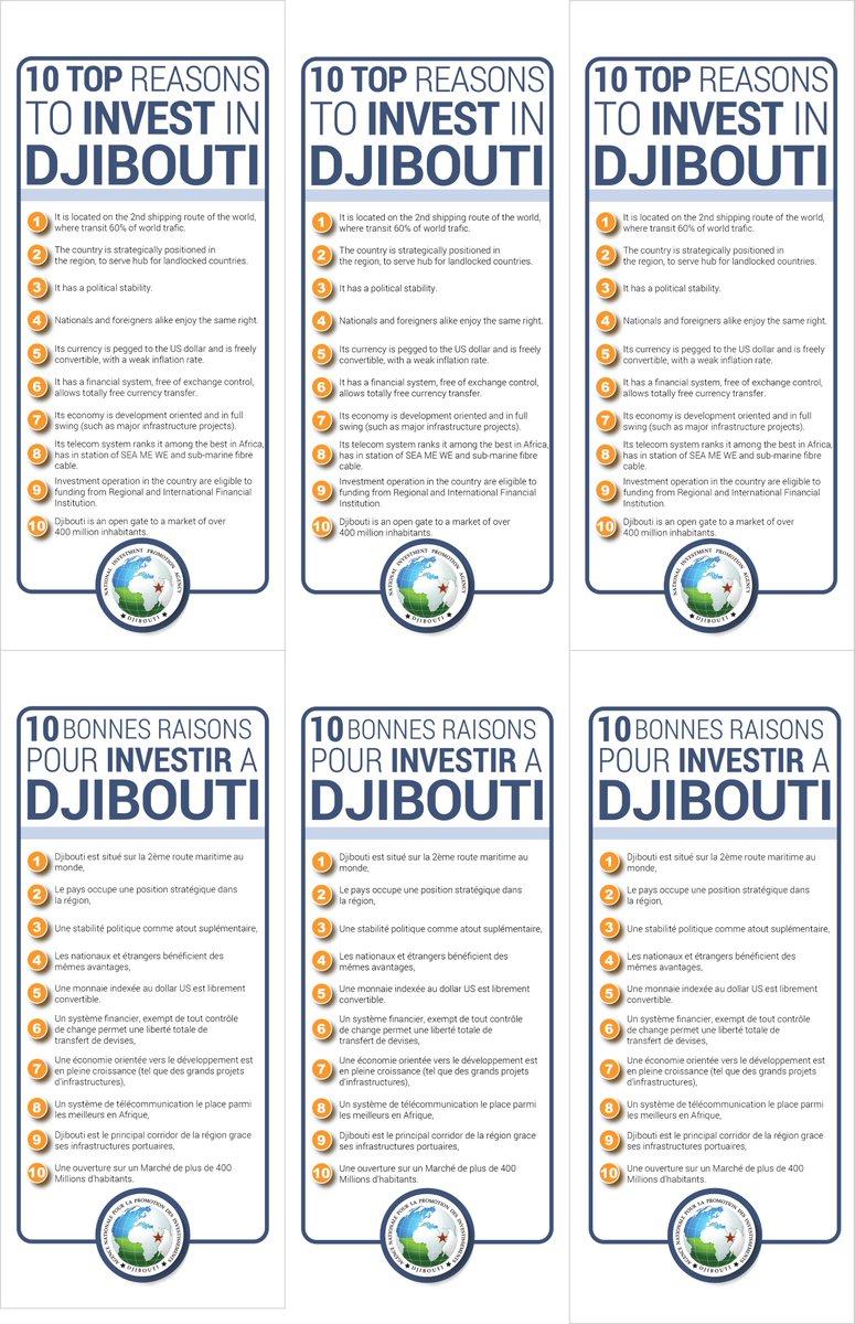 Invest in #Djibouti Découvrez les 10 bonnes raisons d'investir a #Djibouti