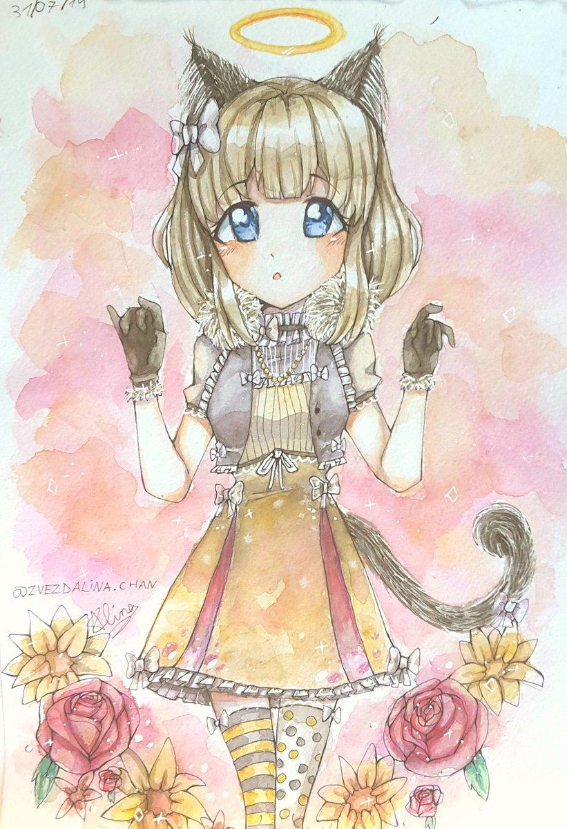 Neko Girl Drawing Art