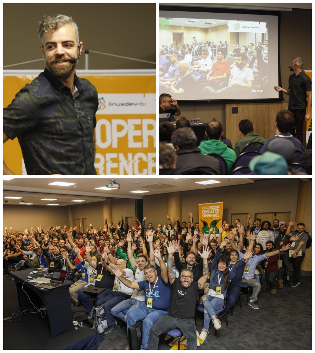 Full house earlier today at @linuxdevbr in São Paulo, including for