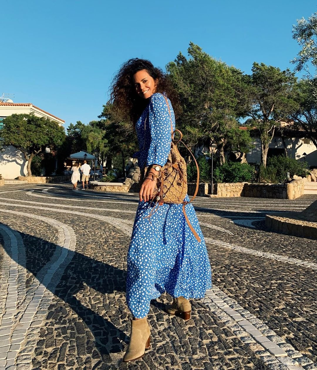 Новый стильный образ Каменских в Италии