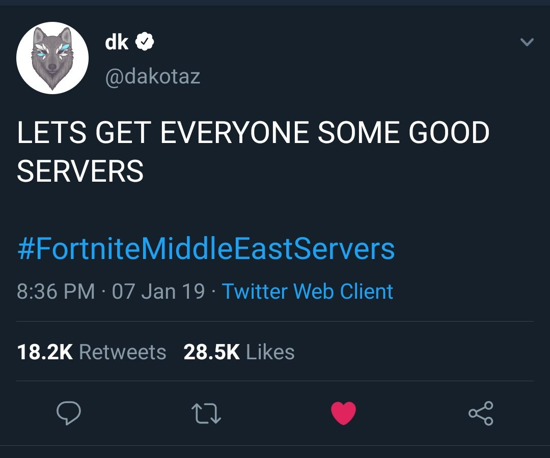fortnitemiddleeastservers hashtag on Twitter