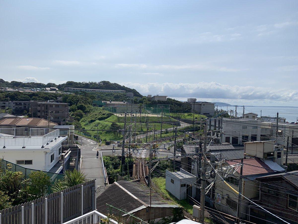 七里ガ浜高校(俯瞰)