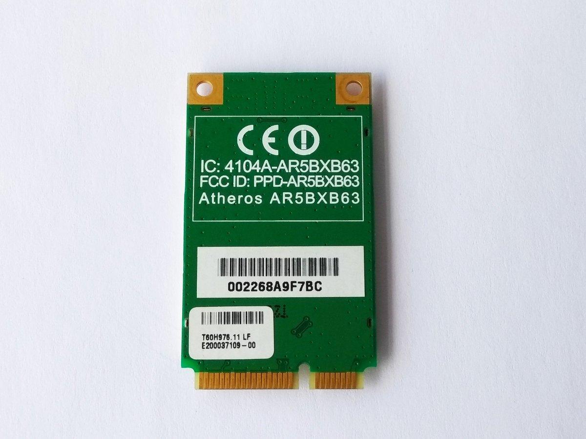 Azurewave AW-GE780 802.11 B//G ATH-AR5BXB63 Mini-PCIe Express Wi-Fi Wireless Card