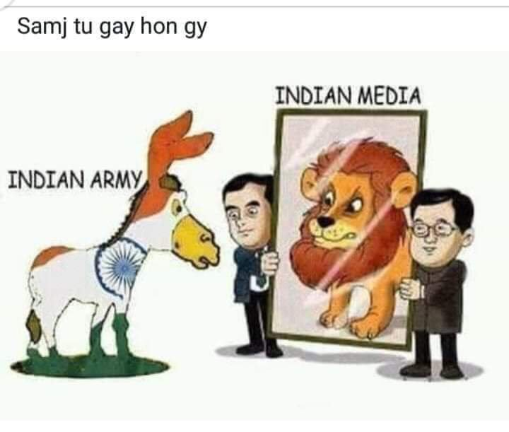 #OperationAllOut Indian media U beauty 😂🐶🐕