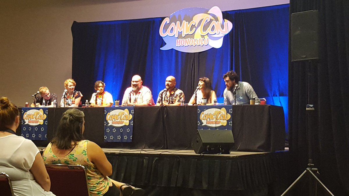 Eeeeeeeee. #comicconhnl went better than expected!!! I got to meet all of our cast members and even show a few moves! #bellydancerlife #cosplaygirl #tdppanel #tdpcast #thebestcasttbh #comicconhonolulu2019 https://t.co/OP54UHdbXM