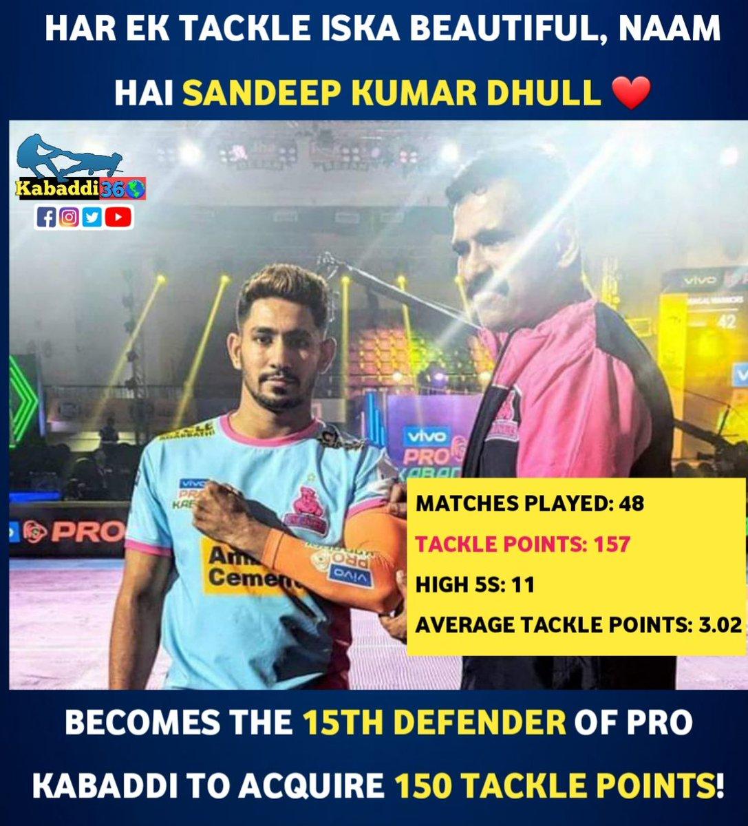 Meet the orange🔶 arm-band holder, Sandeep Dhull! @JaipurPanthers #SandeepDhull #JaipurPinkPanthers #IsseToughKuchNahi #PKLwithKabaddi360 #Kabaddi360