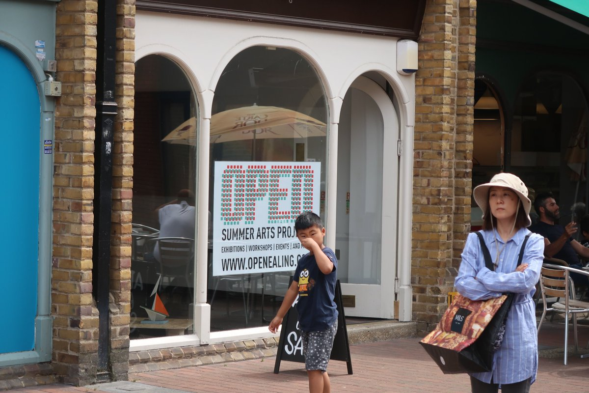 OPEN local the Ealing Arts organisation now in  Oak Road. Pop in and explore their gallery, open 10am - 8pm Mon - Sat and 10am - 5pm Sun. #OpenEaling #Art #EalingBroadway #EalingShopping #Ealing