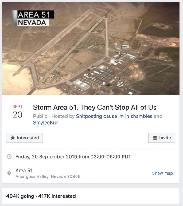 'Storm Area 51' Page Shut Down By Facebook EBHdb1XUEAEJCeh?format=jpg&name=small