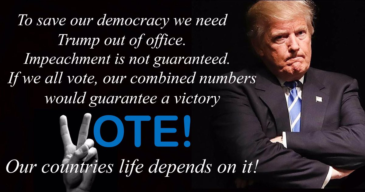 Trump along with his republican zombies followers have been vile, hateful, scary, and truly deplorable! We all must vote and to make sure like mindedfamily and friends vote too!Support whoever the Democratic's nominate!🇺🇸Ride the blue 🌊wave 2020!🗽https://twitter.com/Dangchick1/status/1157962863824293889…