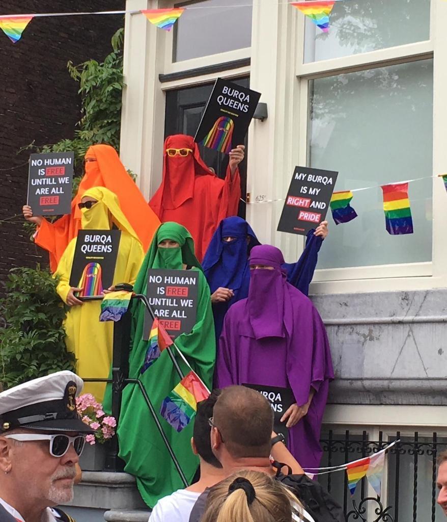 Miembros del partido social-democrata holandés se ponen Niqab para revindicarlo y también el burka [HOL]