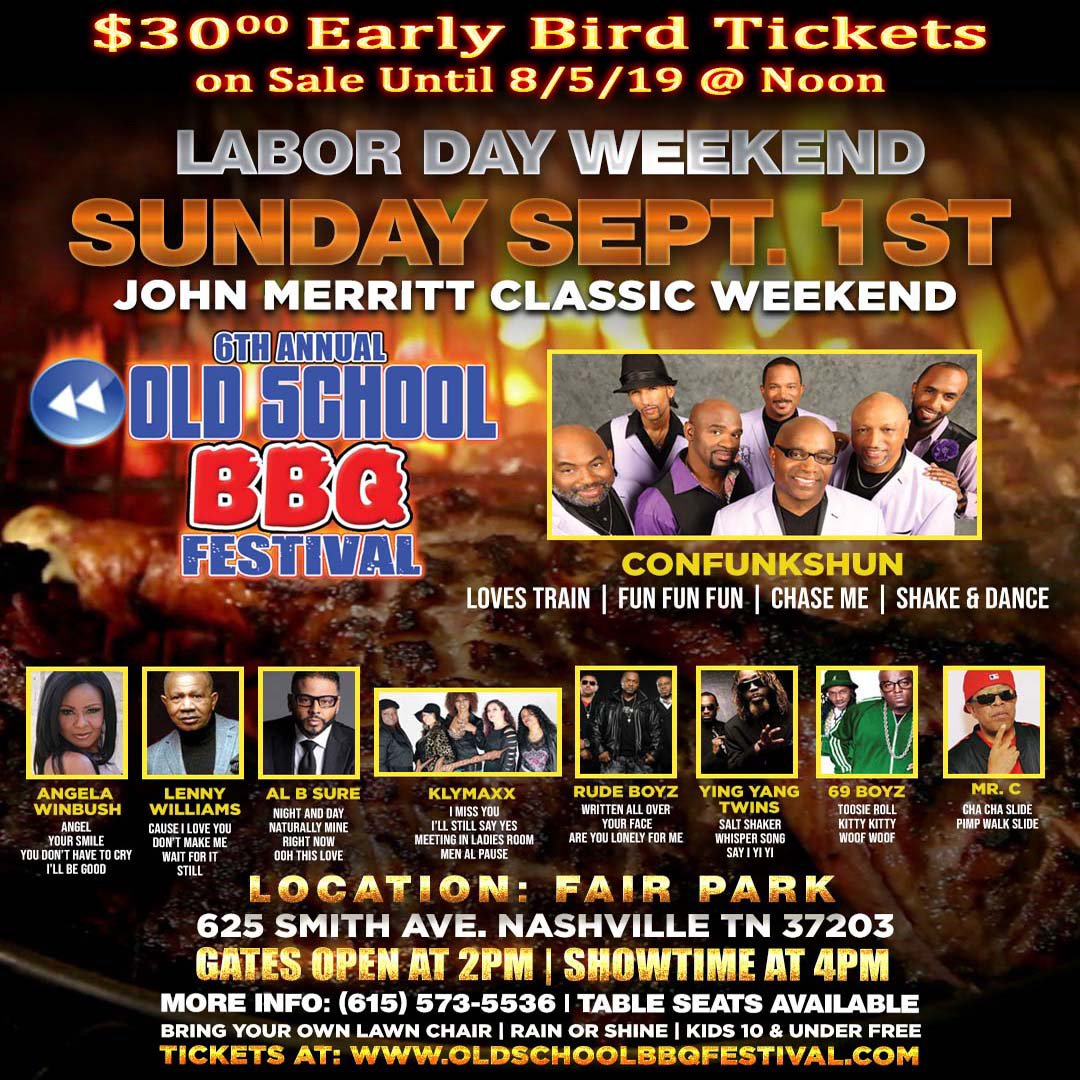 Make sure you get your tickets to the Old School BBQ Fest