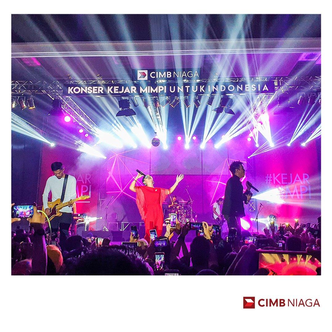 Hai Semarang! Sudah siap ketemu Noah dan Sheila Majid? Jangan lewatkan Konser Kejar Mimpi untuk Indonesia kota Semarang, 17 Agustus 2019 di Gumaya Tower Hotel. Info undangan,  hubungi 14041. Sampai jumpa, ya! #CIMBNiagaForward #KejarMimpi #KonserKejarMimpiUntukIndonesia. pic.twitter.com/2cNsMyOMaR