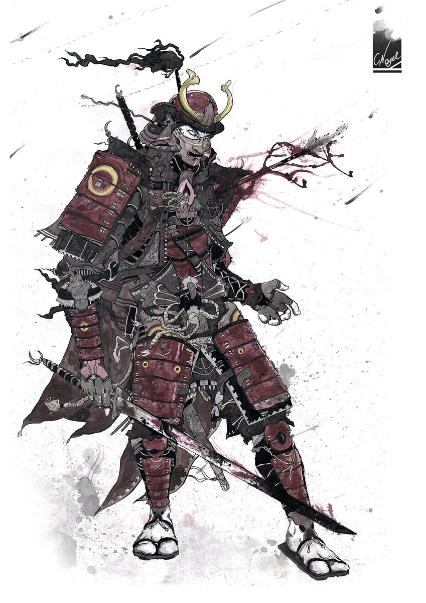 Paladindad On Twitter The History Of Feudal Japan Is Lengthy So Allow Me To Samuraize Dnd Samurai Art By Colbynagel