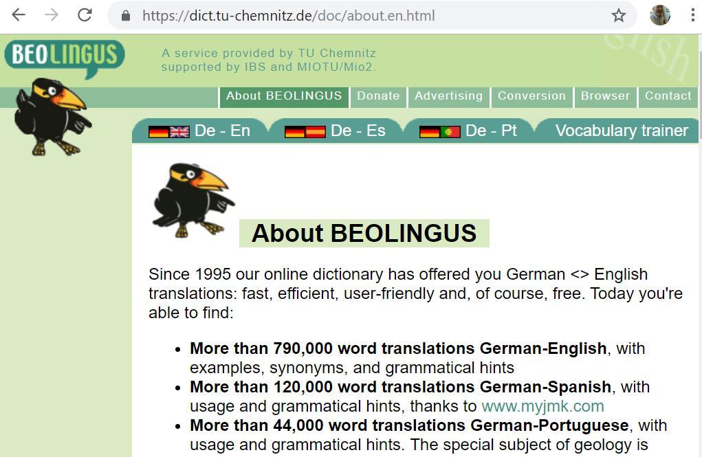 dictionary chemnitz
