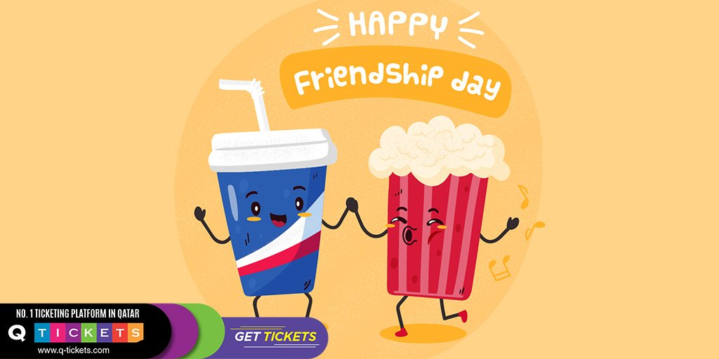 QTickets wishes you #HappyFriendshipDay! #Qtickets #Friendshipday #friendshipday2019 #Doha #Qatar
