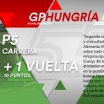 [INFO] 🇪🇸 Carlos Sainz encadena otro quinto consecutivo en el GP de Hungría 👉 https://t.co/tsnQIAUgnq  🇬🇧 Carlos Sainz secures second P5 in a row at the Hungarian GP 👉 https://t.co/afrByxD6hr  #carlo55ainz #HungarianGP 🇭🇺 #F1