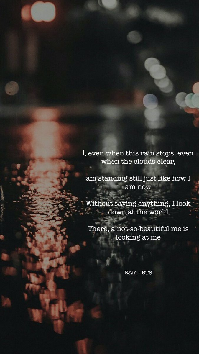 bts lyrics ⁷ على تويتر a not so beautiful me rain bts lyrics