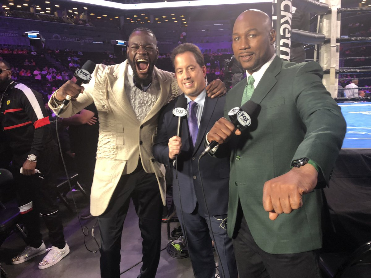 What a helluva night to call some fights!!! @LennoxLewis @KennyAlbert #BombZquad #barclaycenter #PBConFox
