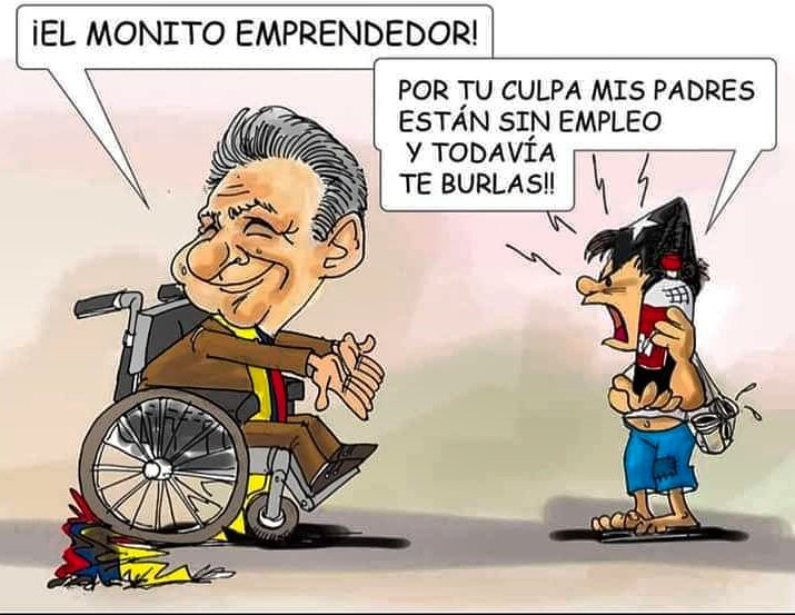Resultado de imagen para Caricaturas de Lenín Moreno
