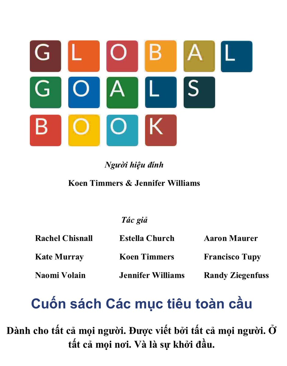 The Global Goals book is now available in Vietnamese! innovationsdglab.com/book