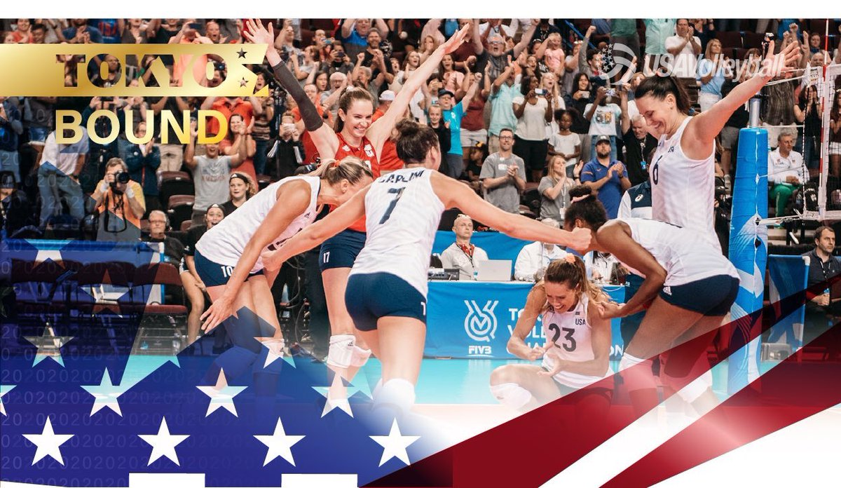 USA VOLLEYBALL IS GOING TO THE OLYMPICS!!!!!!! 🇺🇸🇺🇸🇺🇸 #pathtothepodium #greatdaytohaveaday #sports