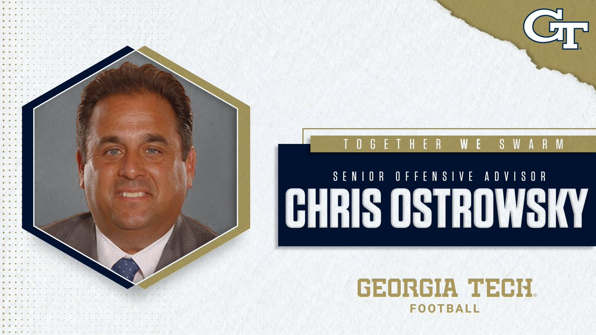 Another #biGTime addition to @CoachCollins staff: @CoachOstrowsky #404theCULTURE 👉 buzz.gt/FB-CO_SOA19