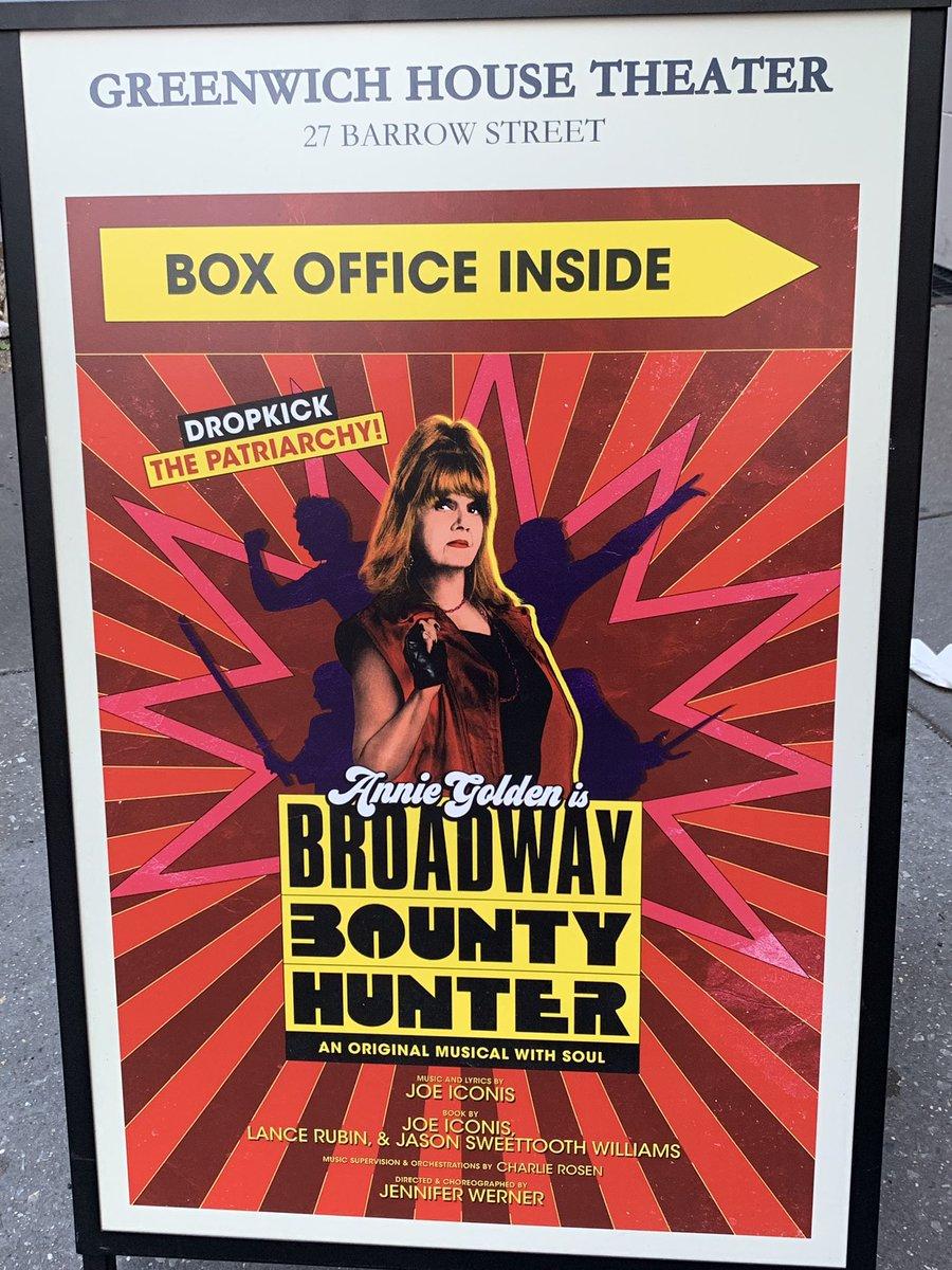 """Tonight's show: """"Broadway Bounty Hunter"""" (@BwayBounty), by @MrJoeIconis."""