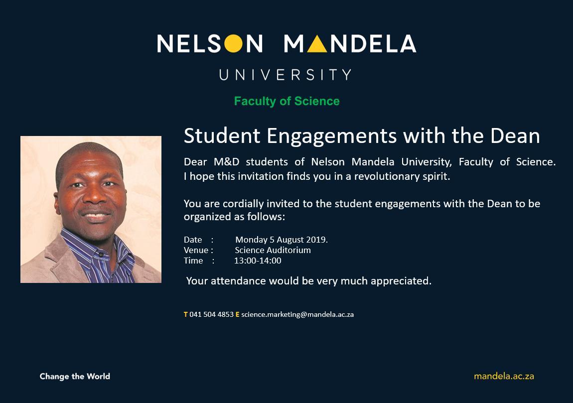 #INVITATION-M&D Student Engagements with the Dean https://t.co/XK2BDwBZL0