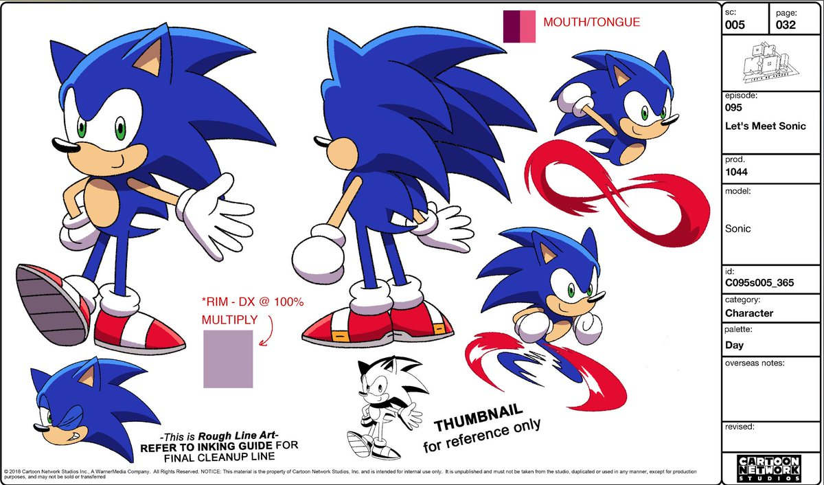 Ianjq On Twitter Thank You All For The Kind Words On The Ok Ko Episode Let S Meet Sonic As A Treat Here S Our Original Model Sheets For Sonic And Tails By Our