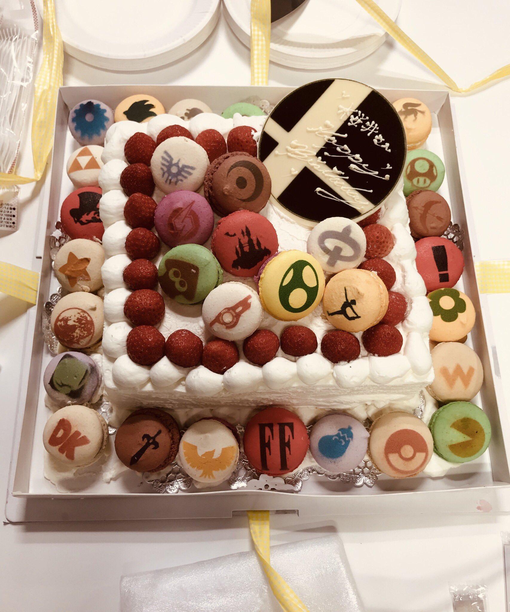 スマブラの生みの親・桜井さんのバースデーケーキもスマブラだった?!