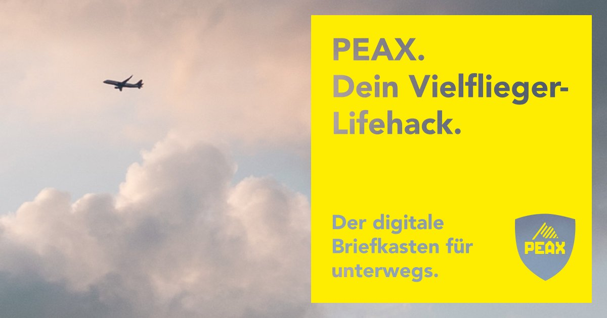 Wo du auch hinfliegst, deine Post fliegt mit dir. #peaxaroundtheworld #ferien #businesstravel #simplifyyourlife #fly https://t.co/qgzf9vBThO