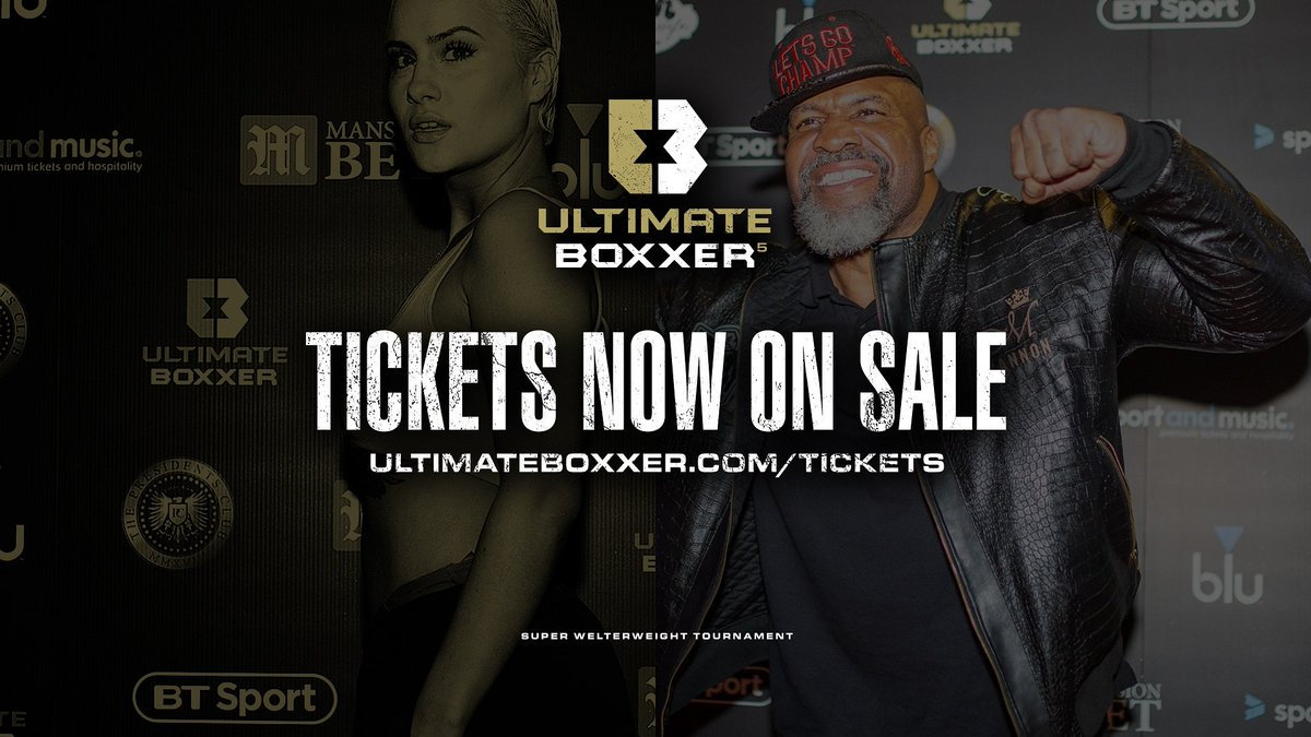 🎫 NOW ON SALE!Live at indigo at The O2 - #UltimateBoxxer returns with the Super Welterweights!💥8⃣ Fighters - 7⃣ Fights - 1⃣ Winner!Ticket link 👇http://www.ultimateboxxer.com/tickets