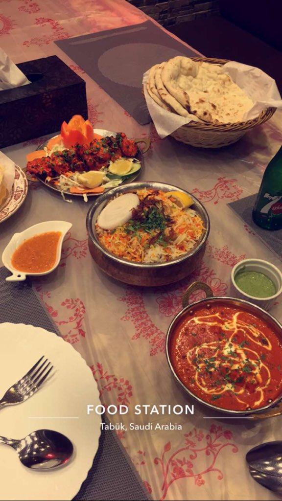 مطاعم تبوك בטוויטר تجربة متابع مطعم تاج محل مروج الامير