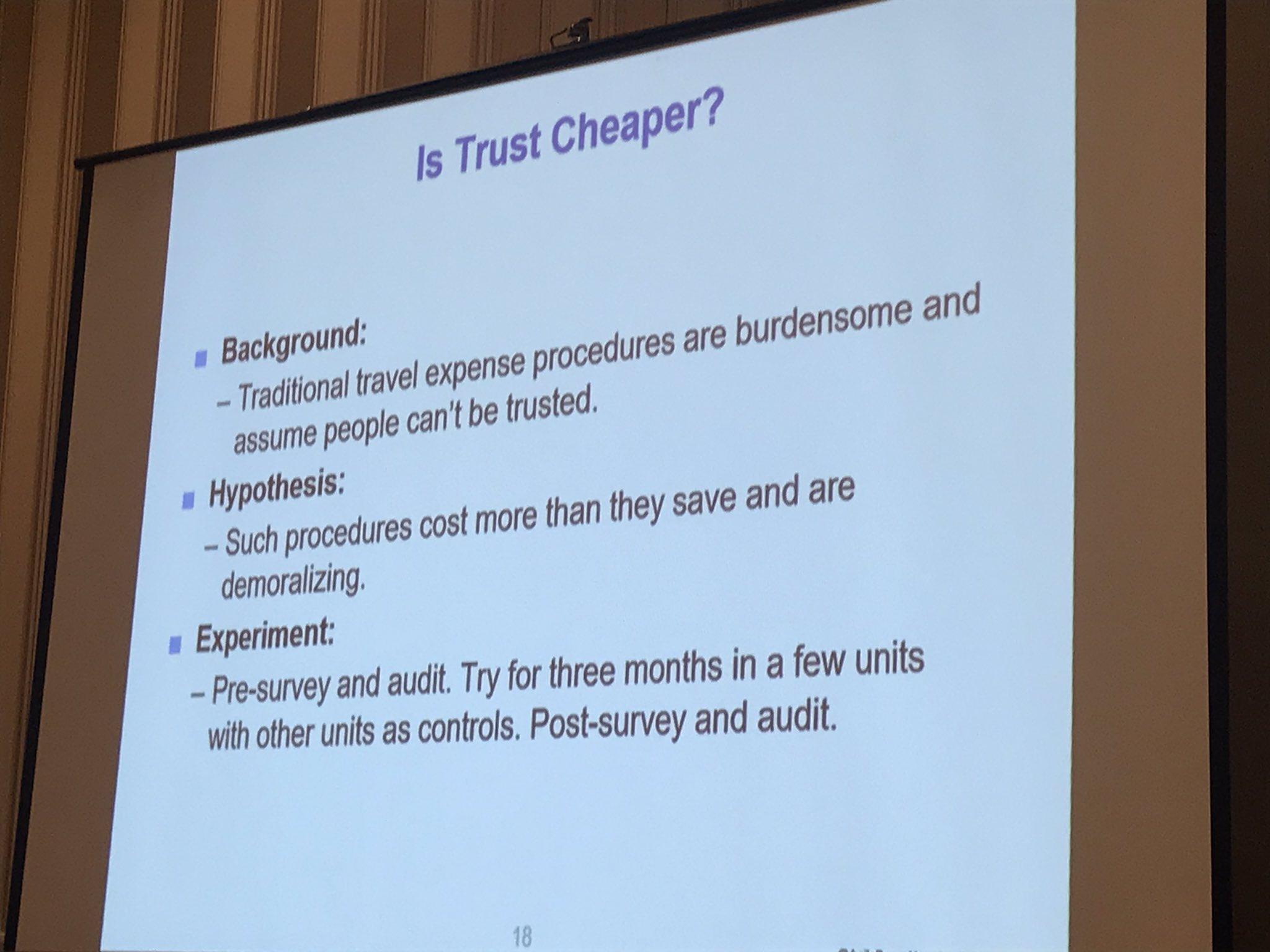 trust experiment