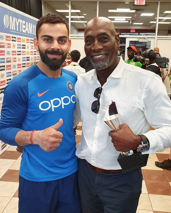 With the biggest BOSS! 🙌 @ivivianrichards