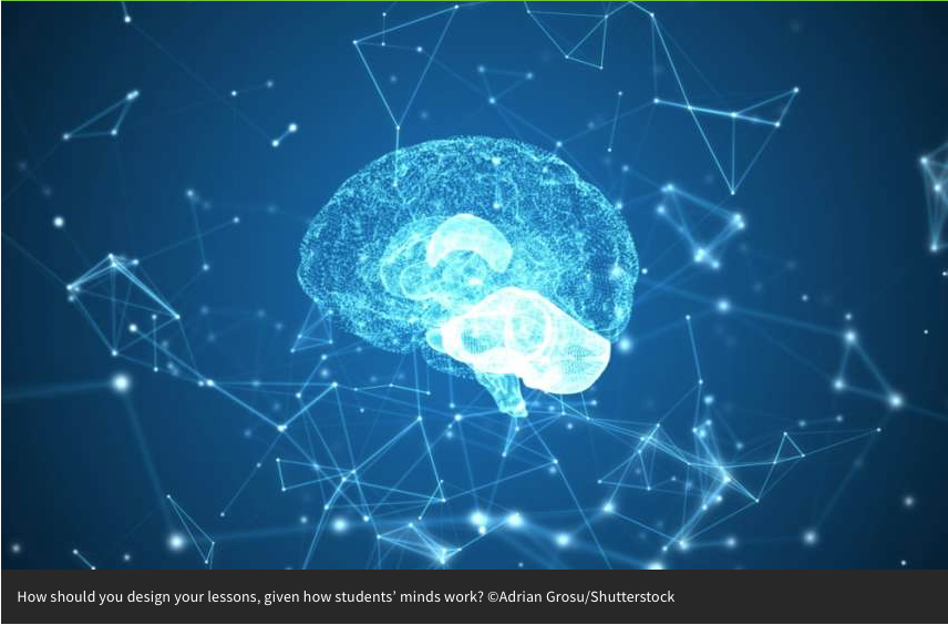 Interesting article introducing cognitive load theory.'How do we apply our understanding of how people learn, think and solve problems to classroom instruction?' http://bit.ly/2KllMLG