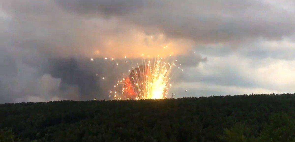 Взрыв склада боеприпасов под Ачинском