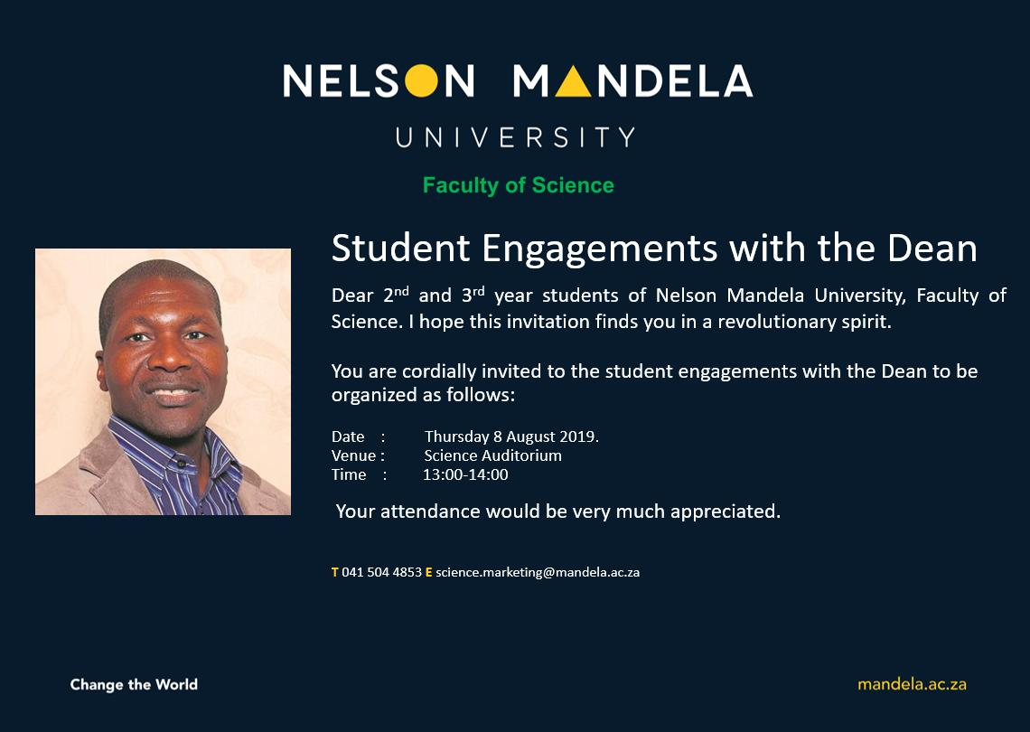 #INVITATION 2: 2nd and 3rd Year Student Engagements with the Dean https://t.co/6vUKsTl9u5