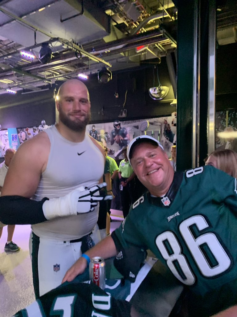 @LaneJohnson65 @Eagles @gwrCA Lane, thanks for being so great with my family and last night. You are the best