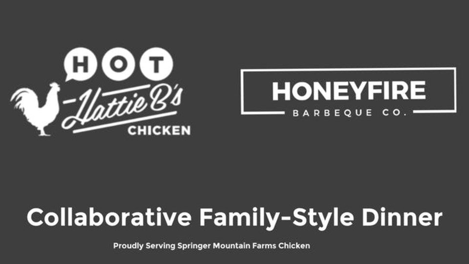 .@HattieBs and @HoneyFireBBQ are teaming up for a special four-course collaborative dinner. The menu combines sweet and spicy flavors — including a unique take on hot chicken. nashvillescene.com/food-drink/bit…