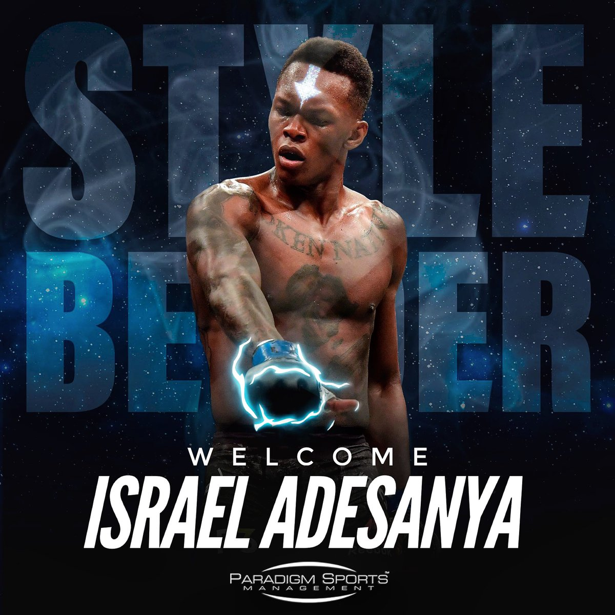 We're excited to welcome Israel Adesanya (@stylebender) to the Paradigm team for full service representation!  Israel is a fighter of the highest caliber and we look forward to working with him as he fights to unify the UFC Middleweight Championship and beyond. 🇳🇿🇳🇬 #GP