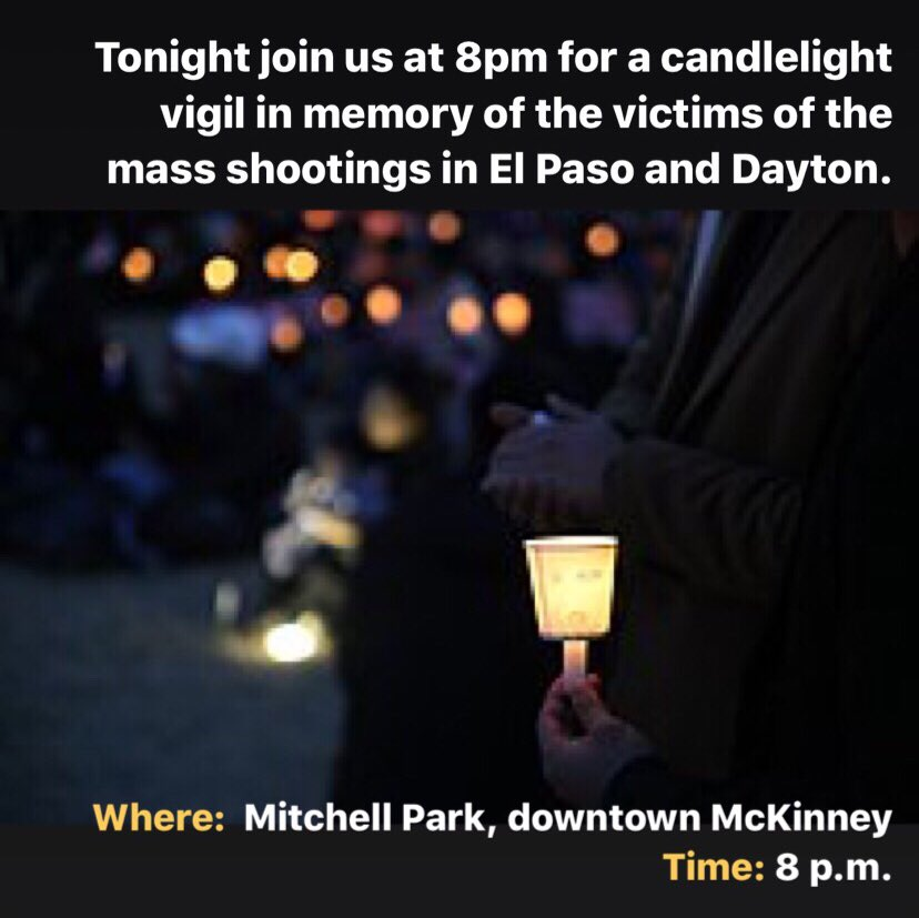 Please join us tonight for a candlelight vigil.