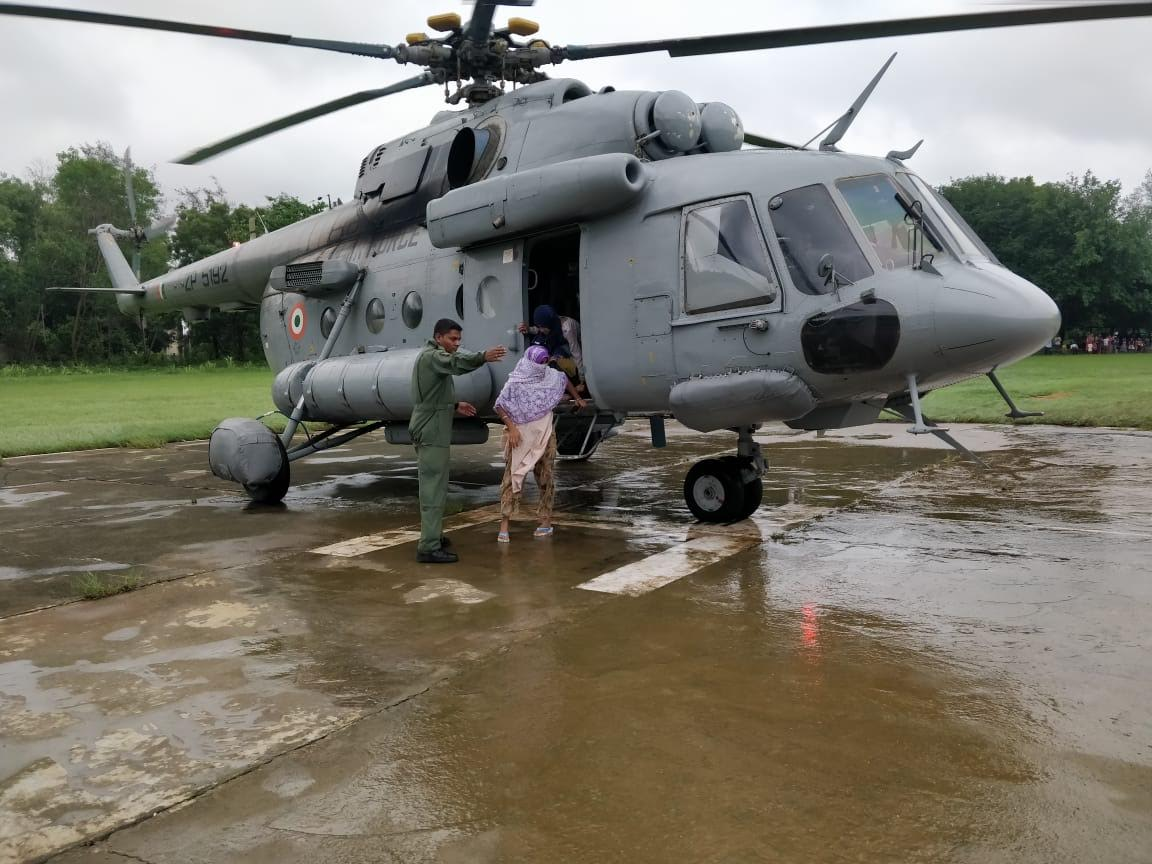 13 air lifted in flood hit Mangrol taluka of South Gujarat
