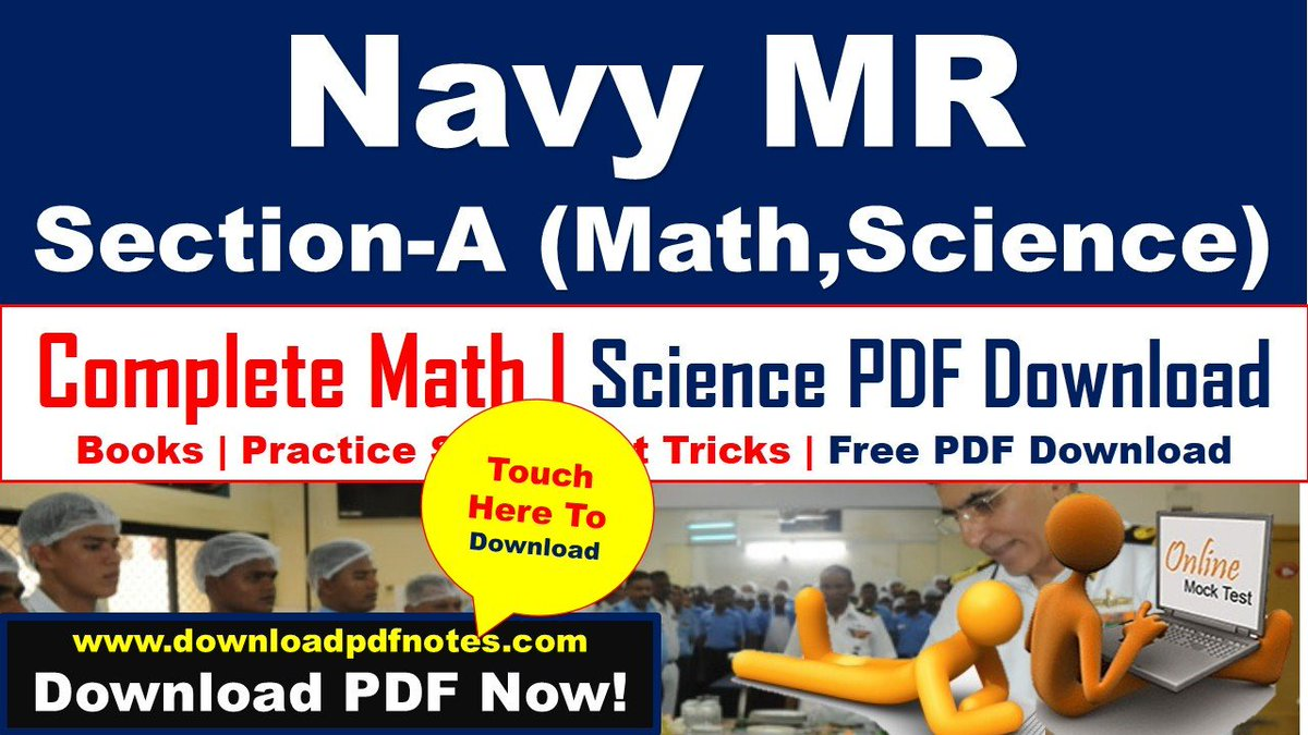 PDF] Navy MR (Science, Math) Complete Study Material, Books