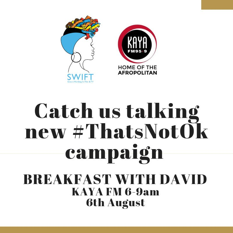 Please tune in tomorrow morning between 6 and 9 on @kayafm95dot9 #ThatsNotOk